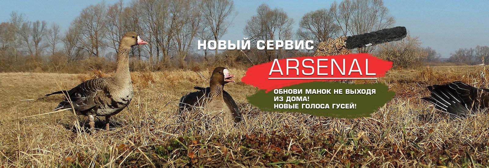 Новый сервис Arsenal. Обнови свой манок не выходя из дома